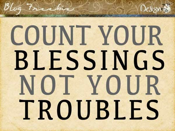 Wednesday SayingZ | Count Your Blessings