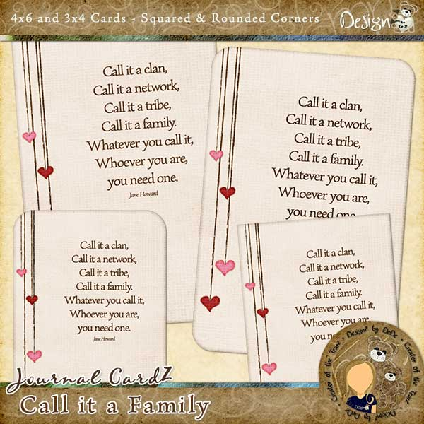 Journal CardZ - Call it a Family by DesignZ by DeDe
