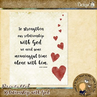 Thursday PrintableZ | Relationship with God