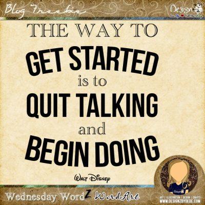 Wednesday WordZ   Begin Doing