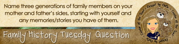 Journal Prompt: Name 3 generations of family members on your mother and father's sides, starting with yourself and any memories/stories you have of them.